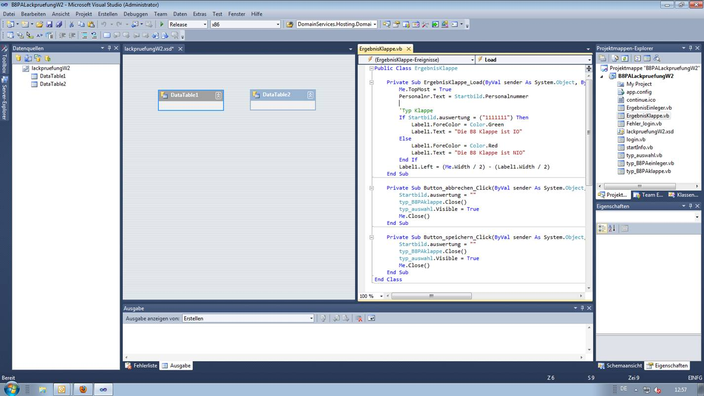 Von VB.net Projekt in SQL Datenbank schreiben ...